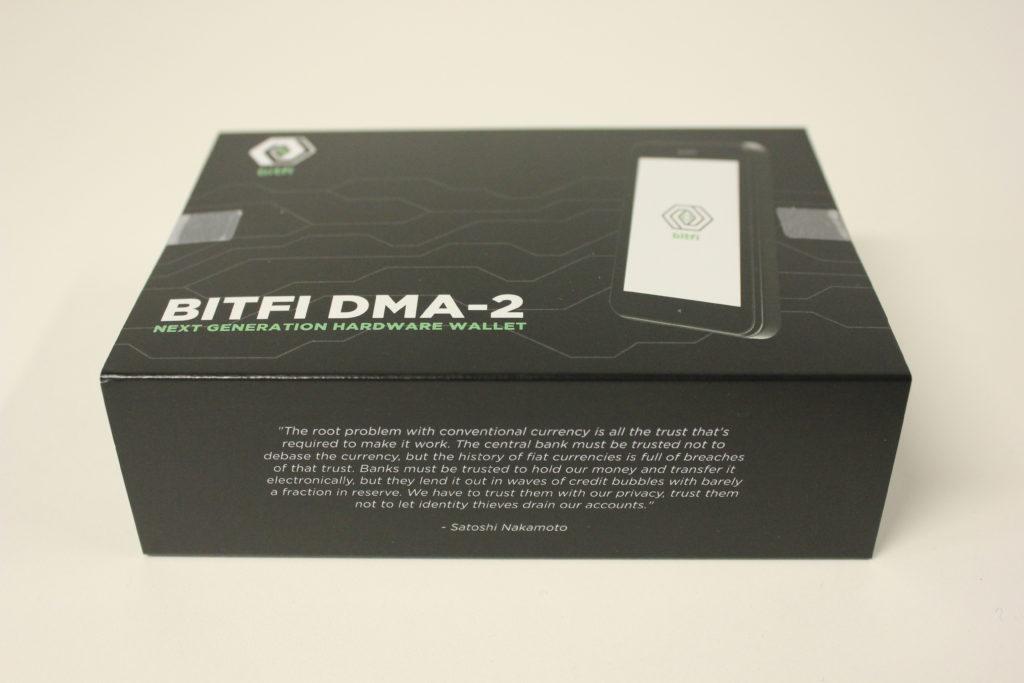 Bitfi wallet review: unboxing