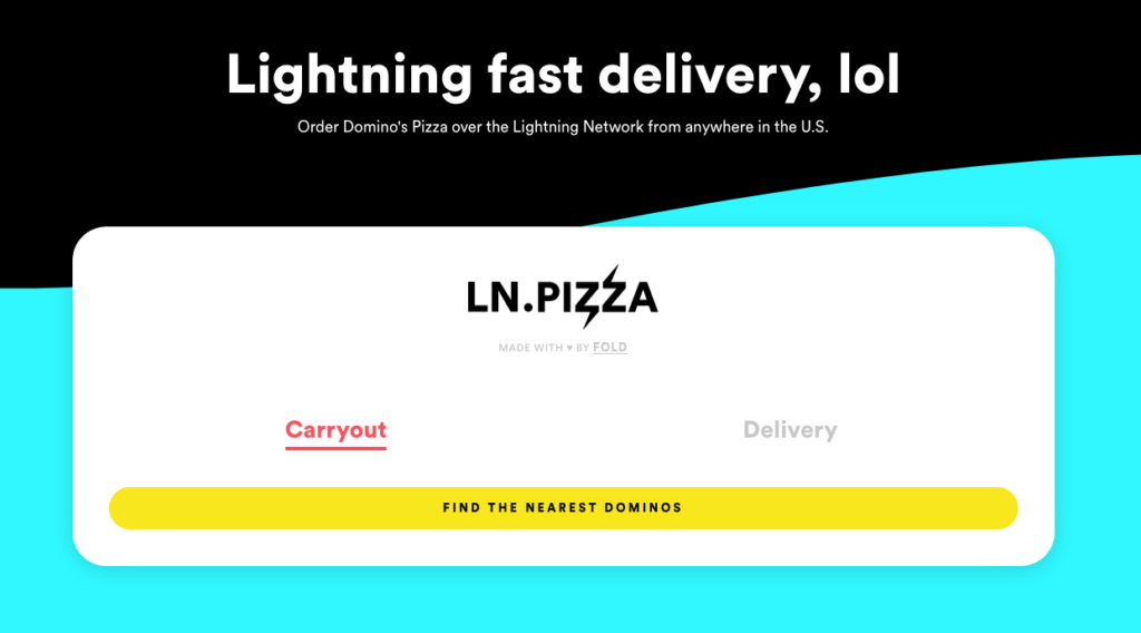 Lightning pizza lets you buy pizza with Bitcoin