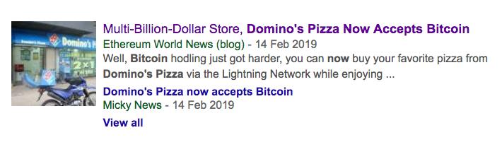 Domino's isn't really accepting Bitcoin