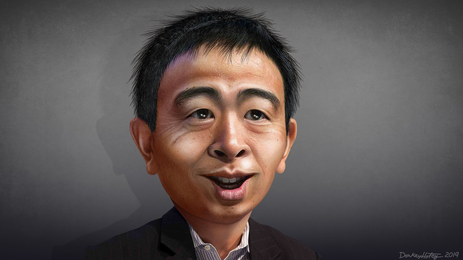U.S. Presidential Candidate Andrew Yang says words about blockchain at Consensus