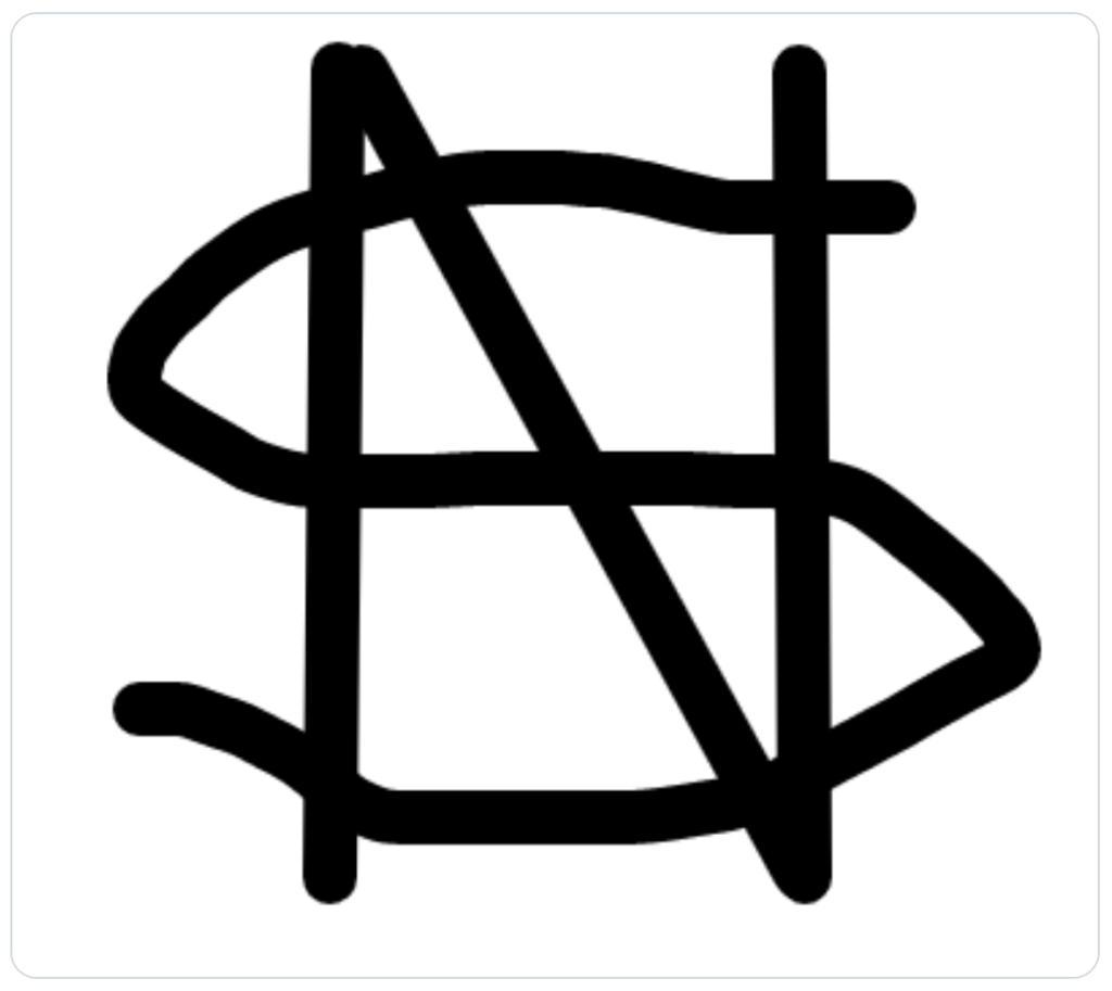 satoshi symbol design mock up