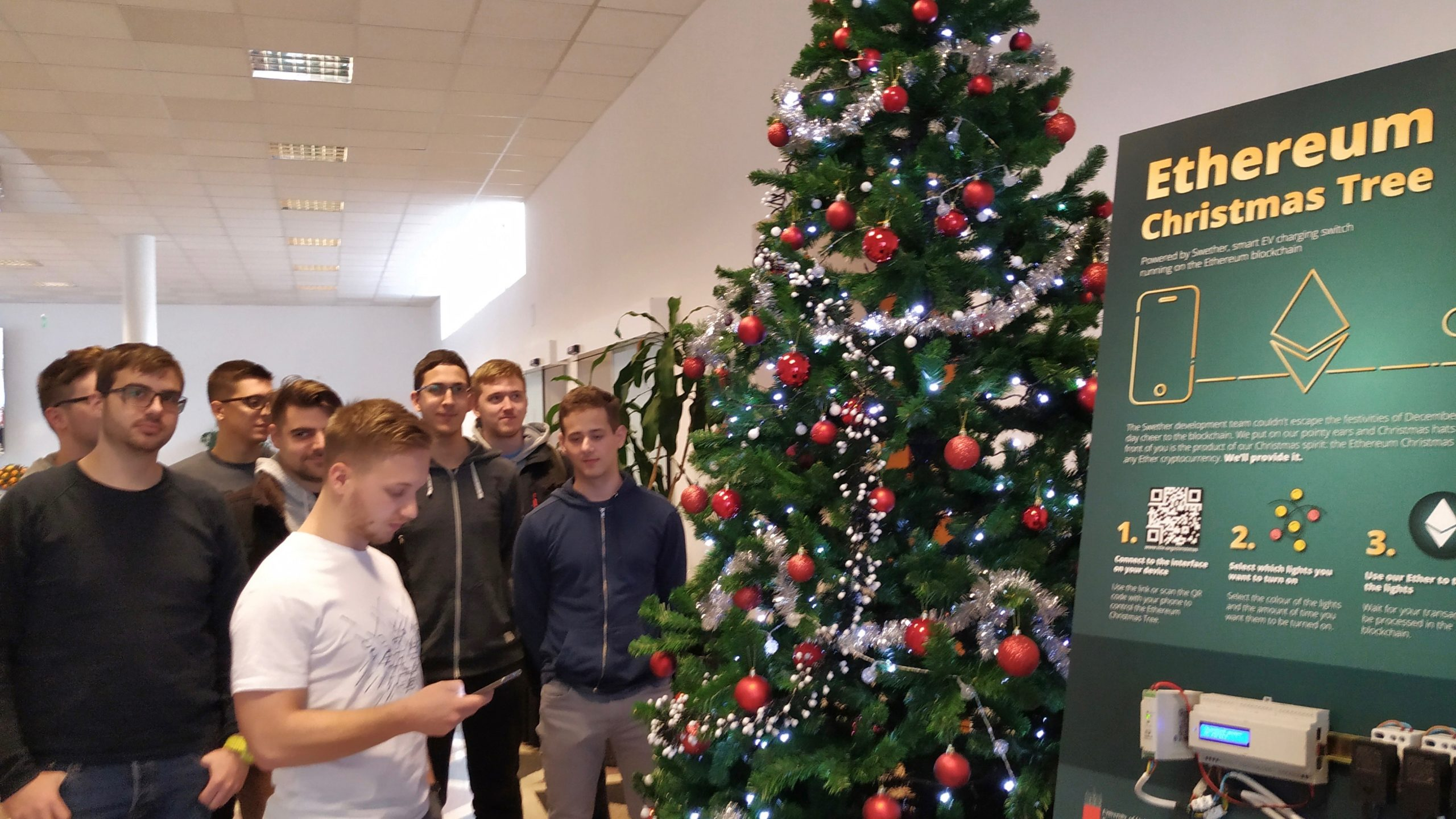 Now Christmas trees are going on the blockchain