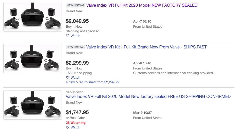 Vr Headset Prices Soar As The World Goes Virtual Decrypt