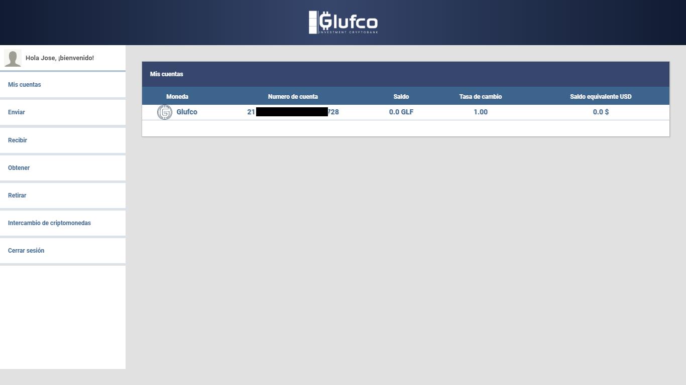 Glufco desarrolló una webapp como primera parte de un ecosistema de criptomonedas completo para Venezuela. Imagen: Glufco