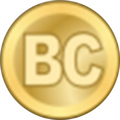 """Một vòng tròn vàng với các chữ cái """"BC"""""""
