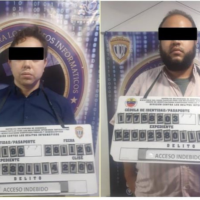 José Manuel Osorio Mendoza, 33, and Kelvin Jonathan Diaz, 34, are accused of breaking into the servers of Bancar Exchange