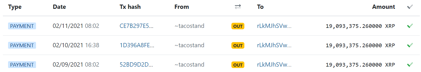 "Jed McCaleb has released 57 million XRP from his ""tacostand"" wallet in the last three days."